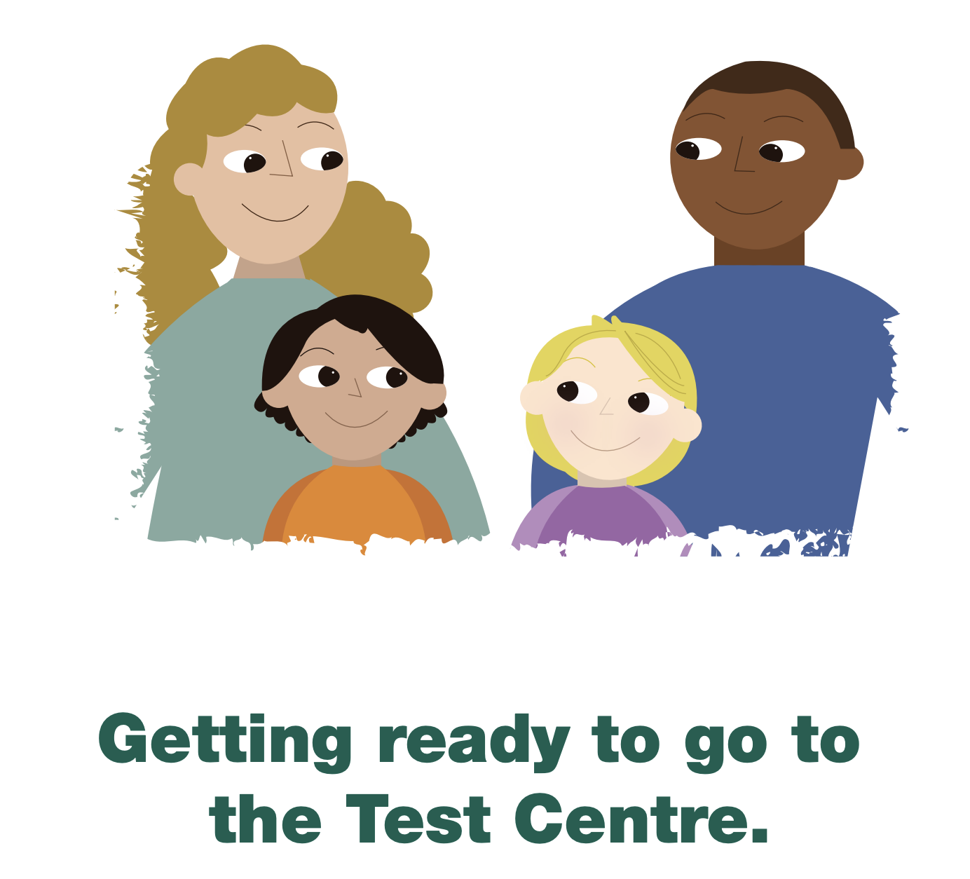 Getting ready to go to the COVID-19 Test Centre for kids